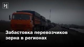 Забастовка перевозчиков зерна в регионах