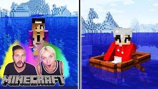 Minecraft Überlebenskampf #2: KAAN KÄMPFT GEGEN EISBÄREN! NINA FINDET ENDLICH SCHMIED! Survival PvP