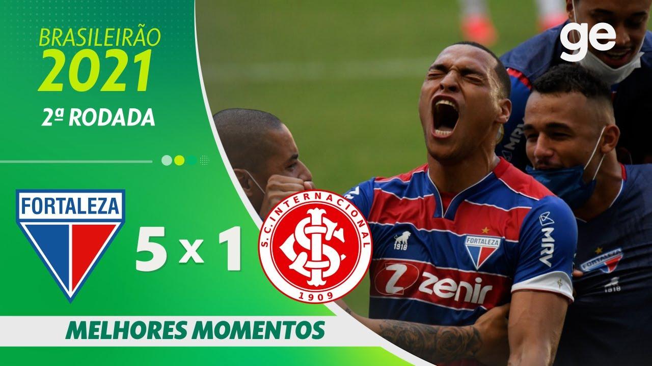 Fortaleza 5 X 1 Internacional Melhores Momentos 2ª Rodada Brasileirao 2021 Ge Globo Youtube