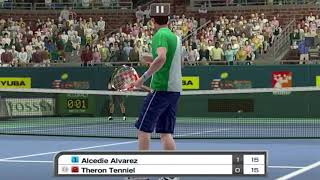 US Open T. Tenniel vs A. Alvarez Virtua Tennis Challenge