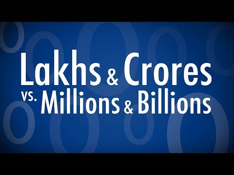 How To Convert Lakhs & Crores To Millions & Billions