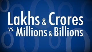 how to convert lakhs crores to millions billions