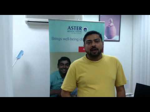 Testimonial - Aster Clinic, Sharjah