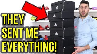 ADIDAS SENT ME ALL OF THEIR LATEST FOOTBALL BOOTS!