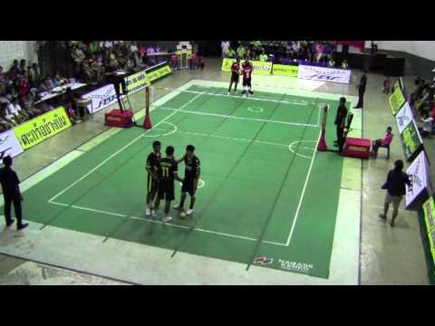 การแข่งขันตะกร้อไทยแลนด์ลีก กาญจนบุรี VS ราชบุรี 27-04-56 (2)