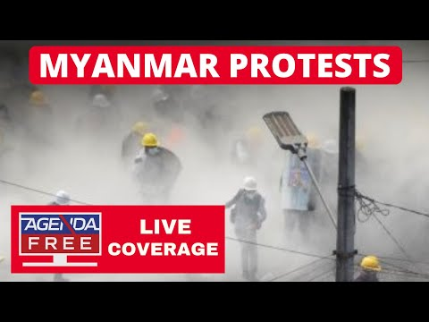 Protesters Attacked in Myanmar - LIVE BREAKING NEWS COVERAGE