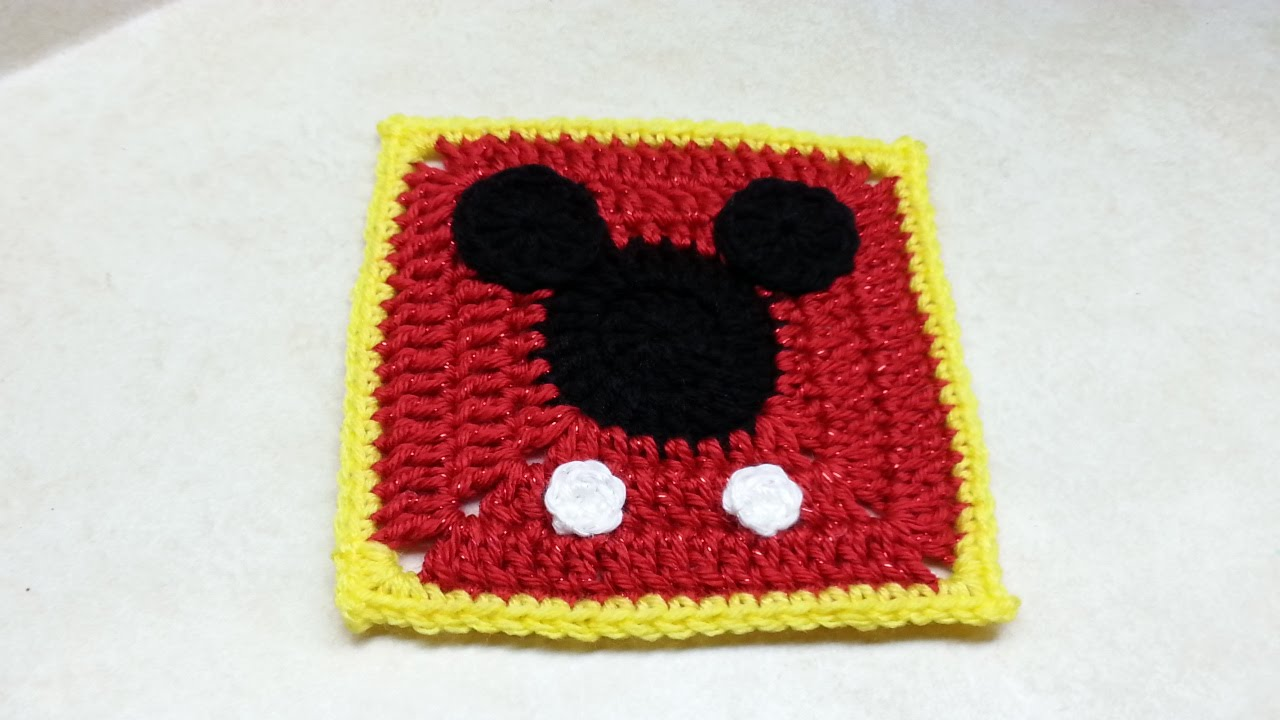 Mickey Mouse Crochet Baby Blanket Pattern : Crocheted Mickey Mouse Blanket Free Patterns Joy Studio ...