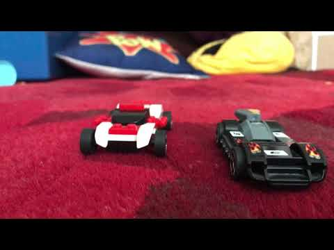 Lego stop motion.The race