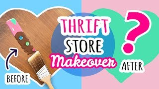 Hey Guys! Thrift store makeovers are BACK! Where I shop around a thrift store for some sad lonely item (in this case a wooden, heart shaped paper holder) and ...