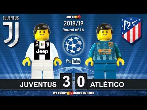 Juventus vs Atletico Madrid 3-0 • Champions League 2019 (12/03) All Goals Highlights Lego Football - 동영상
