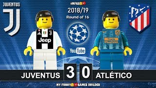 Juventus vs Atletico Madrid 3-0 • Champions League 2019 (12/03) All Goals Highlights Lego Football