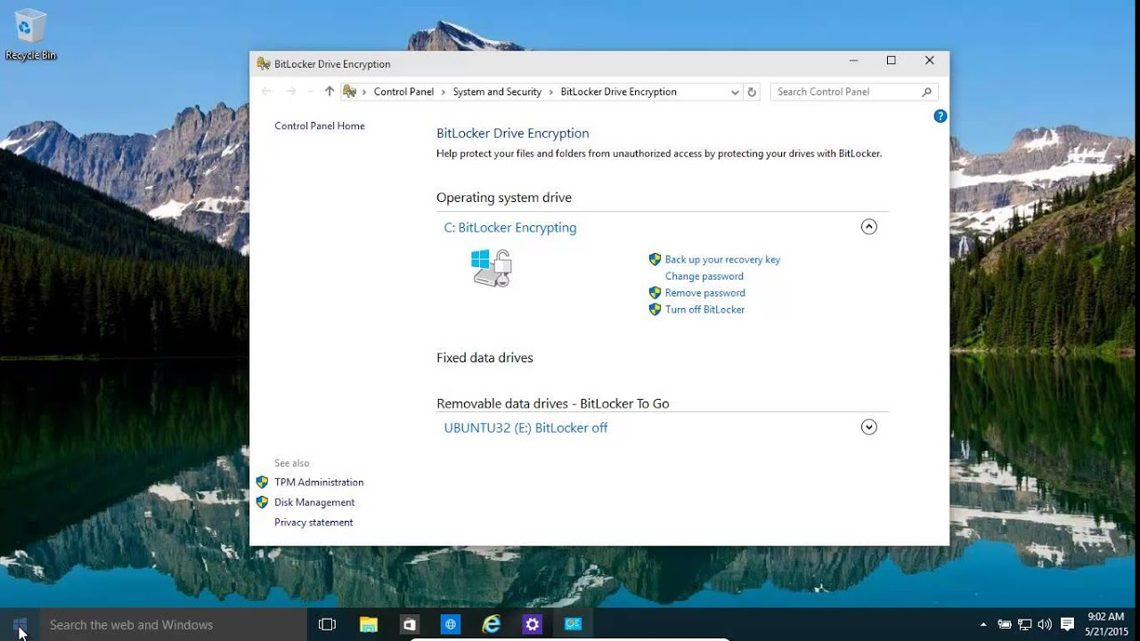 Windows 10 And 8 1 Bitlocker And Bitlocker To Go - Encrypt Your Full  Computer Drives