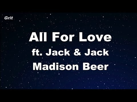 All For Love ft. Jack & Jack - Madison Beer Karaoke 【No Guide Melody】 Instrumental
