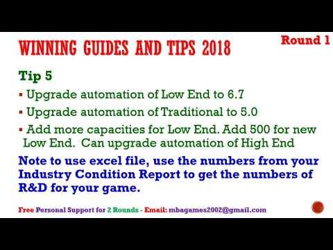Capsim 2018 Capstone Free Winning Guide And Tips Round 1 Capsim Tips