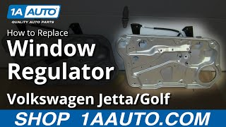 How To Install Replace Front Window Regulator 1999-06 VW Volkwagen Jetta Golf