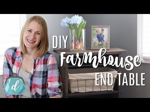 MAKING FURNITURE WITH NO TOOLS!  💙  DIY Rustic Farmhouse Side Table (cheap!)