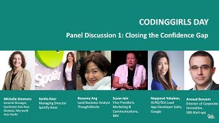 Panel: Closing the Confidence Gap: Practical Advice and Where to Begin - CodingGirls Day 2017