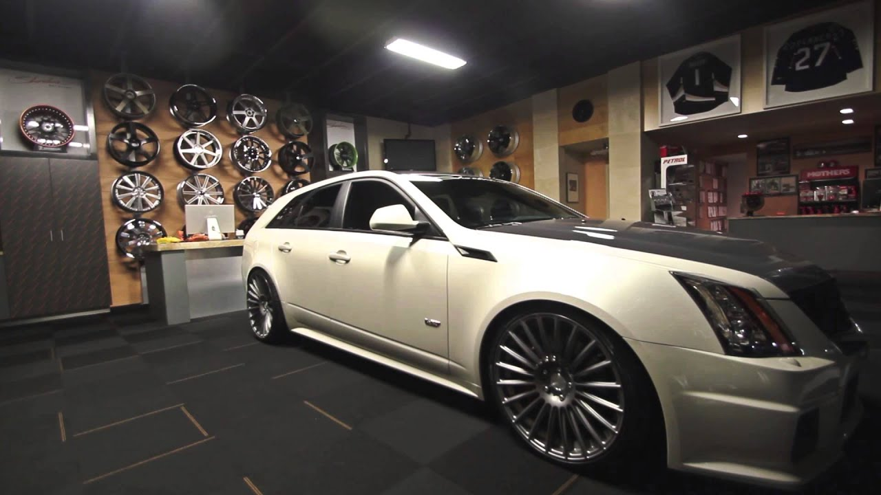 "Cadillac CTS-V Wagon on 21"" Niche Stance - YouTube"