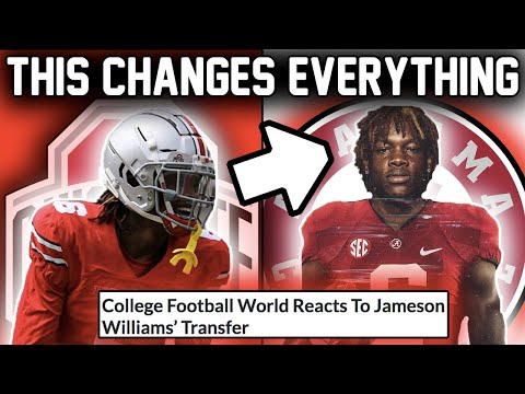 Alabama Landed a SEASON CHANGING PLAYER (Jameson Williams is Transferring to the Tide)