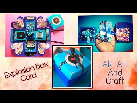 Explosion Box card | Gift box card | New Year 2019