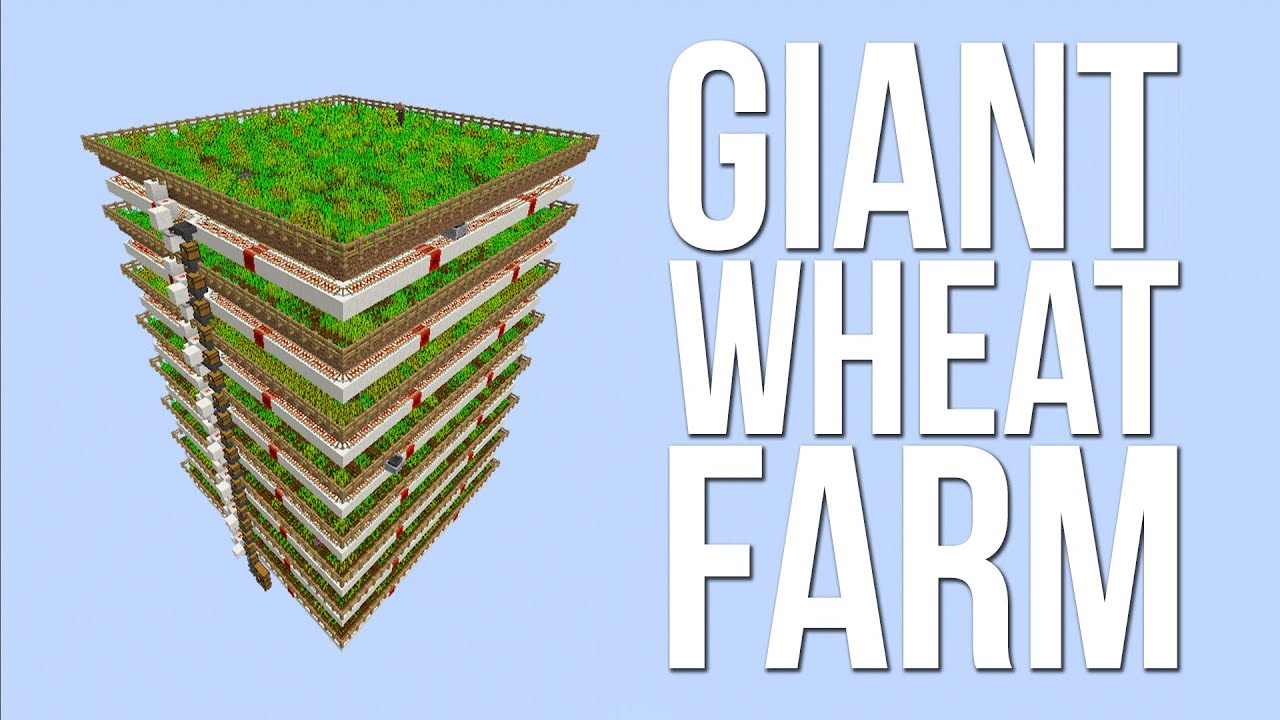 Minecraft - GIANT Fully Automatic Wheat Farm Using ...