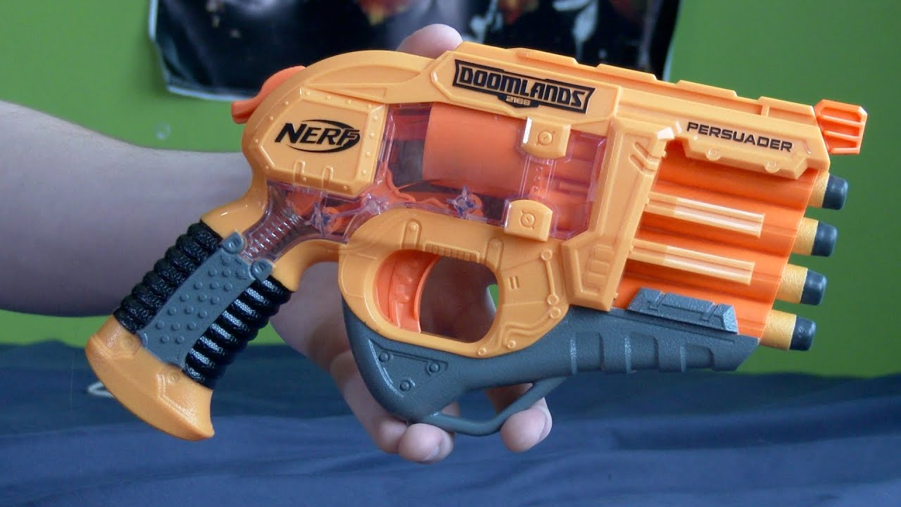 Nerf Doomlands 2169 Persuader Blaster Unboxing and Review New Merch available