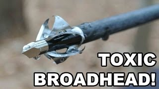 toxic broadhead flying arrow archery s 6 bladed innovation