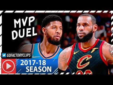 Paul George vs LeBron James MVP Duel Highlights (2018.01.20) Cavaliers vs Thunder - SHOW!