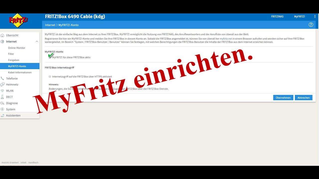 MyFRITZ!-Konto erstellen und in FRITZ!Box einrichten