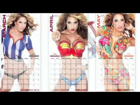 Sneak Peak of JNL! Body Paint Calendar 2011-2012 Jennifer Nicole Lee Calendar.avi