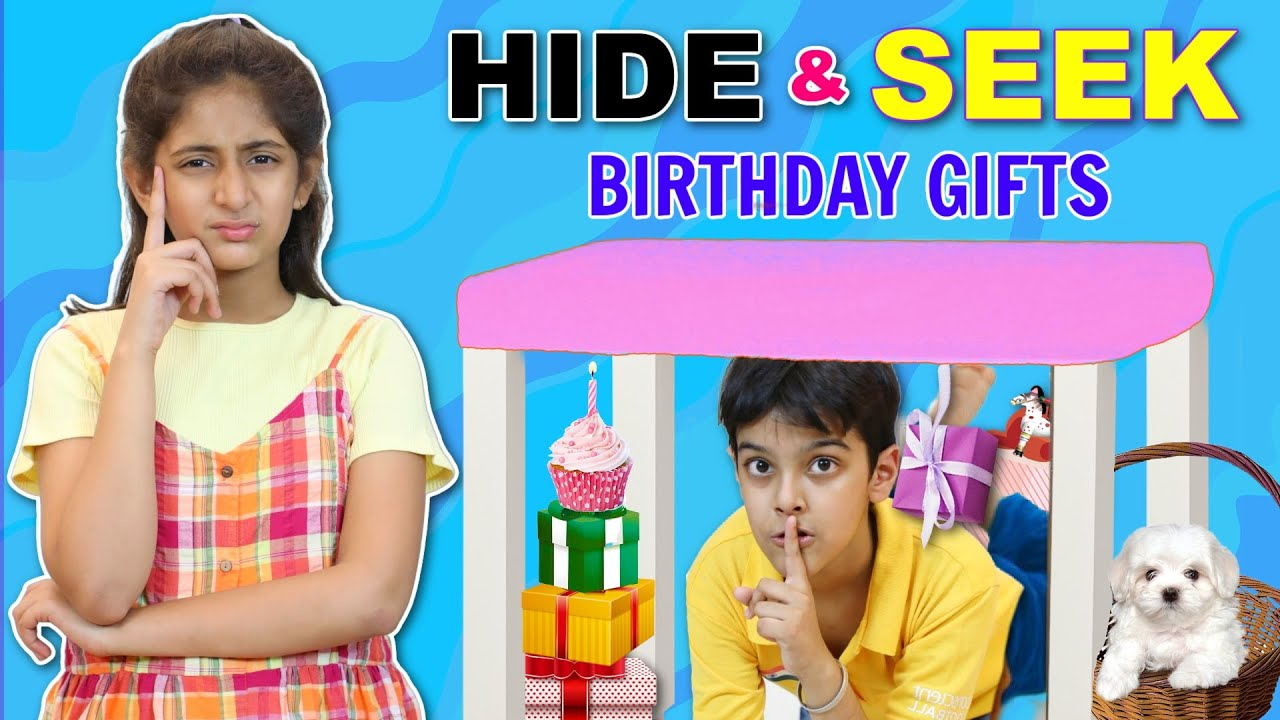 HIDE and SEEK | FAMILY Surprise Me With 12 BIRTHDAY Gifts | MyMissAnand