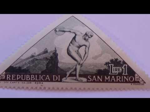 Group Of Old San Marino Postal Stamps