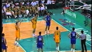 Australia - Greece Basketball 1996 Olympics Atlanta