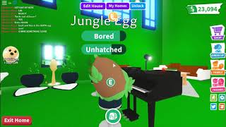 Hatching 10 jungle eggs.. I got a PARROT! // Roblox Adopt me