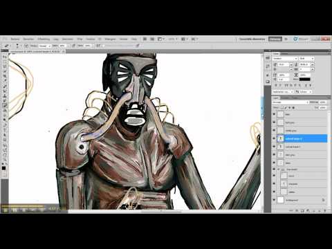 Make a digital fantasy character in photoshop (Catching the firefies) Sci-Fi