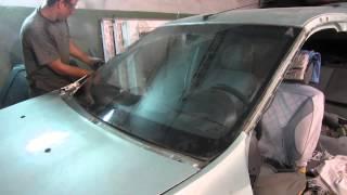 Как срезать лобовое стекло на Рено Логан (Renault Logan) и Лада Ларгус(, 2015-08-07T16:49:36.000Z)