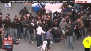 Adeptos não identificados do Sporting causam confrontos no Dragão