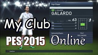 PES 2015 My Club Online Gameplay