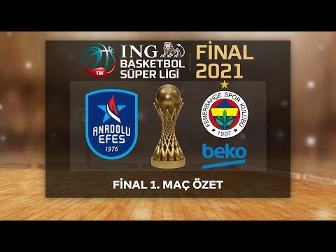 BSL Play-Off Final 1. Maç Özet   Anadolu Efes 111-71 Fenerbahçe Beko