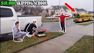 Last To Get CAUGHT SKIPPING SCHOOL Wins $10,000! (We Got Caught)