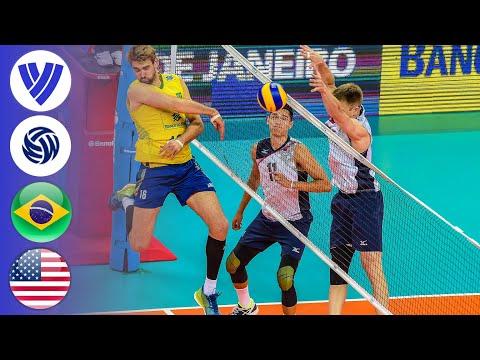 Brazil Vs. USA - Full Match   Men's Volleyball World League 2016