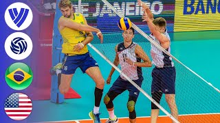 Brazil vs. USA - Full Match | Men's Volleyball World League 2016