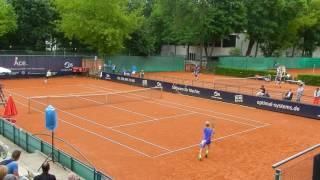 Tennis Rudi Molleker gegen Simon Carr Berlin German Juniors 2017