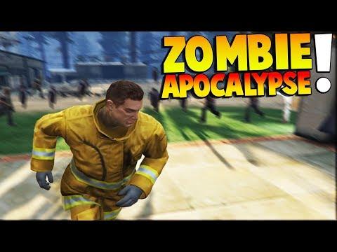 GTA 5 - SURVIVING A ZOMBIE APOCALYPSE! - GTA 5 Gameplay Zombie Multiplayer Mod