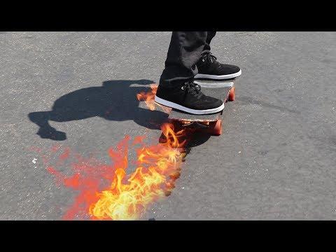 THE FLAMETHROWER SKATEBOARD!   YOU MAKE IT WE SKATE IT EP 149
