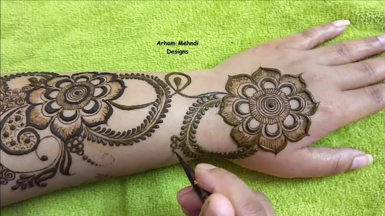 mehndi design back mehndi design
