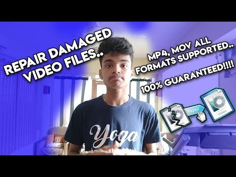 Repair any damaged videos // 100% Guaranteed // All formats supported!!