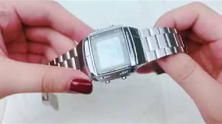 CASIO卡西歐手錶方形銀色電子EC7 選購去→http://bit.ly/2xRBybR.