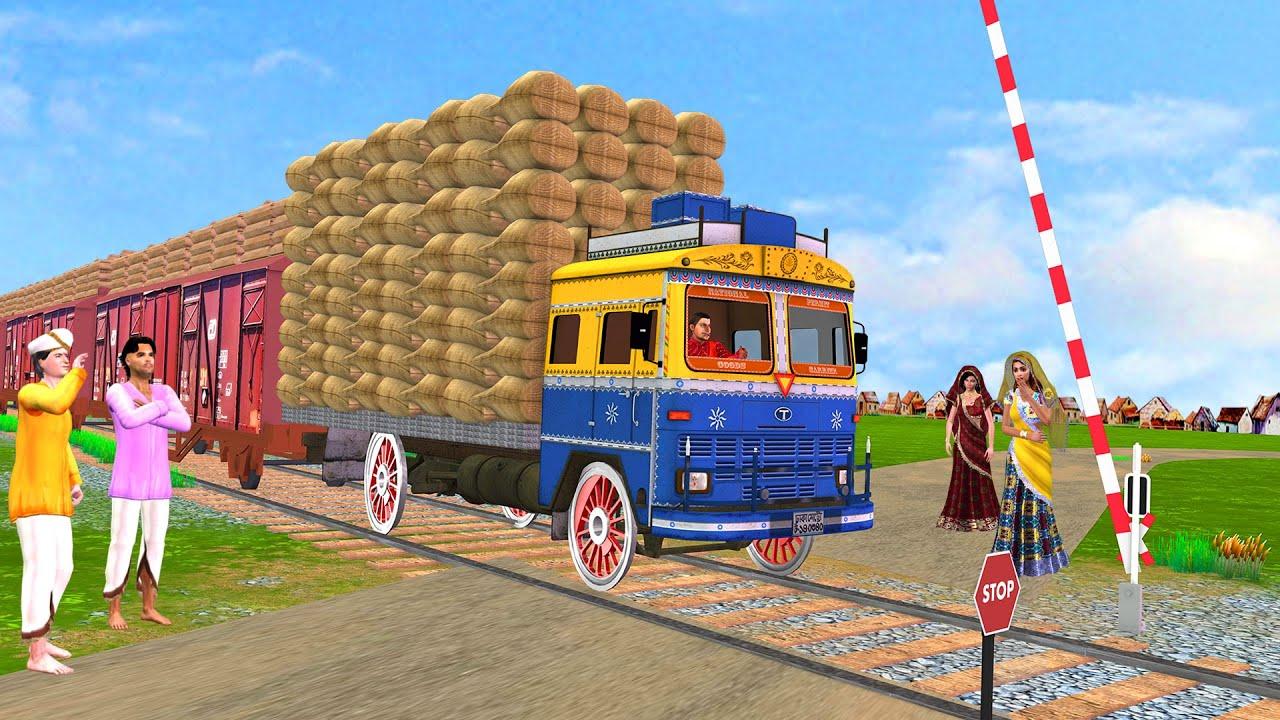 ट्रेन का ट्रक वाला Train Truck  Funny Comedy Video हिंदी कहानिय Hindi Kahaniya Village Comedy Kahani