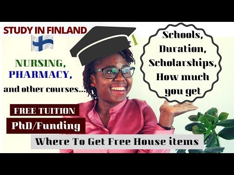 Study in Finland VERY DETAILED VIDEO: Courses, How To, Scholarship, How Much Is It? PhD Funding, etc